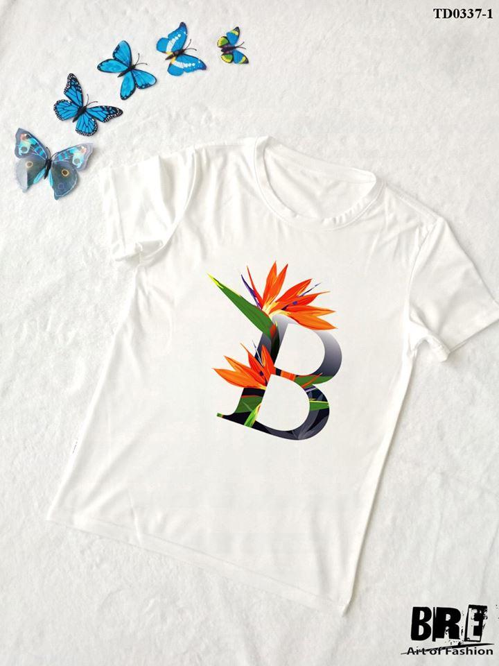 Áo thun chữ cái hoa B (TD0337-1)