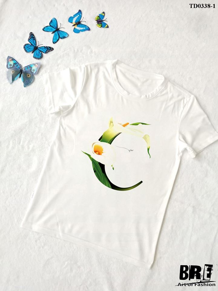 Áo thun chữ cái hoa C (TD0338-1)