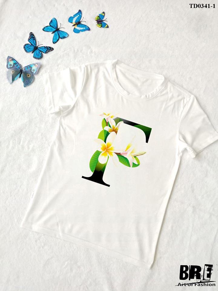 Áo thun chữ cái hoa F (TD0341-1)