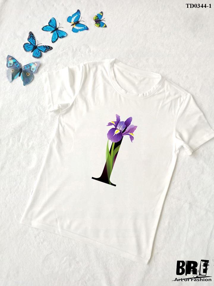 Áo thun chữ cái hoa I (TD0344-1)