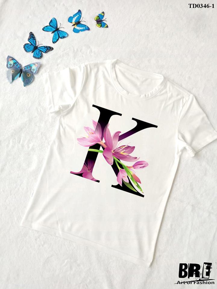 Áo thun chữ cái hoa K (TD0346-1)