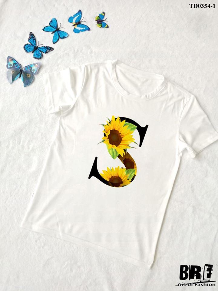 Áo thun chữ cái hoa S (TD0354-1)