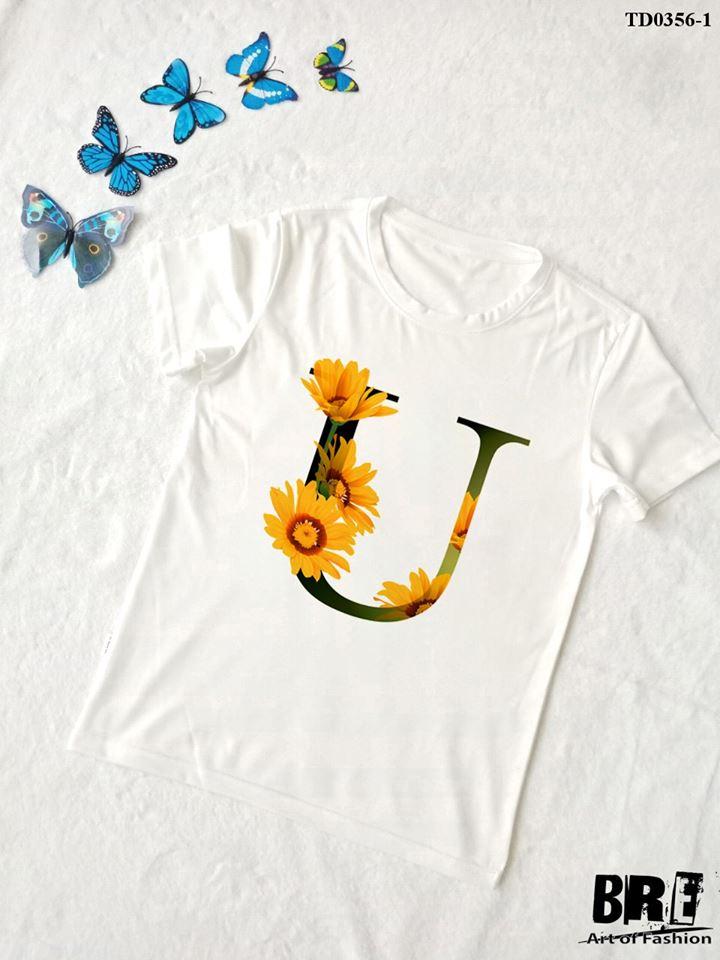 Áo thun chữ cái hoa U (TD0356-1)