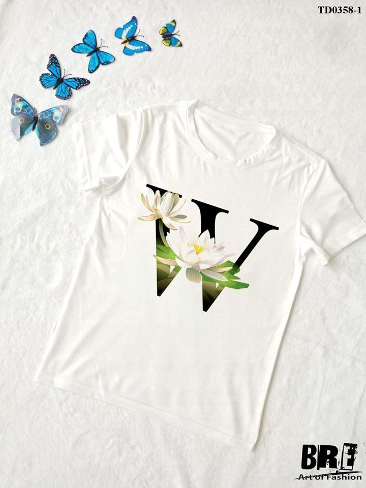 Áo thun chữ cái hoa W (TD0358-1)