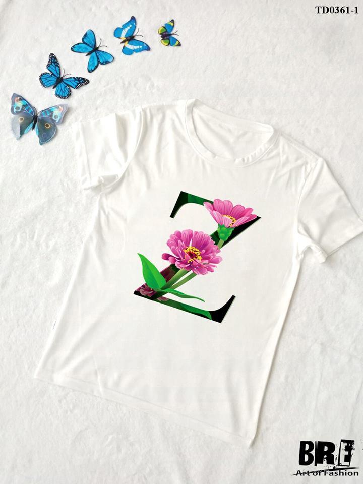 Áo thun chữ cái hoa Z (TD0361-1)