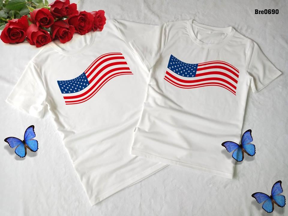 Áo thun in cờ Mỹ COMY01( BRE0690)