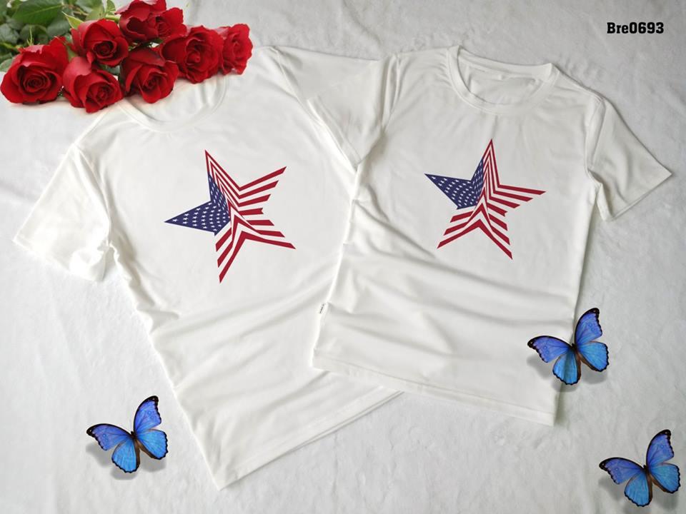 Áo thun in cờ Mỹ COMY03( BRE0693)