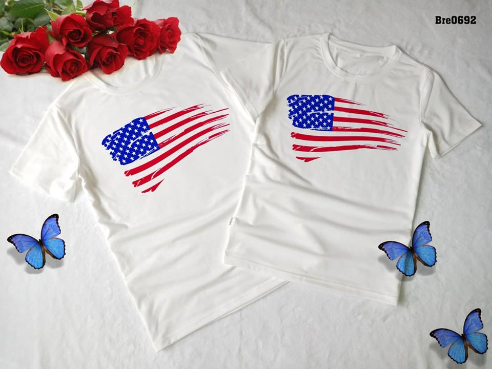 Áo thun in cờ Mỹ COMY04( BRE0692)