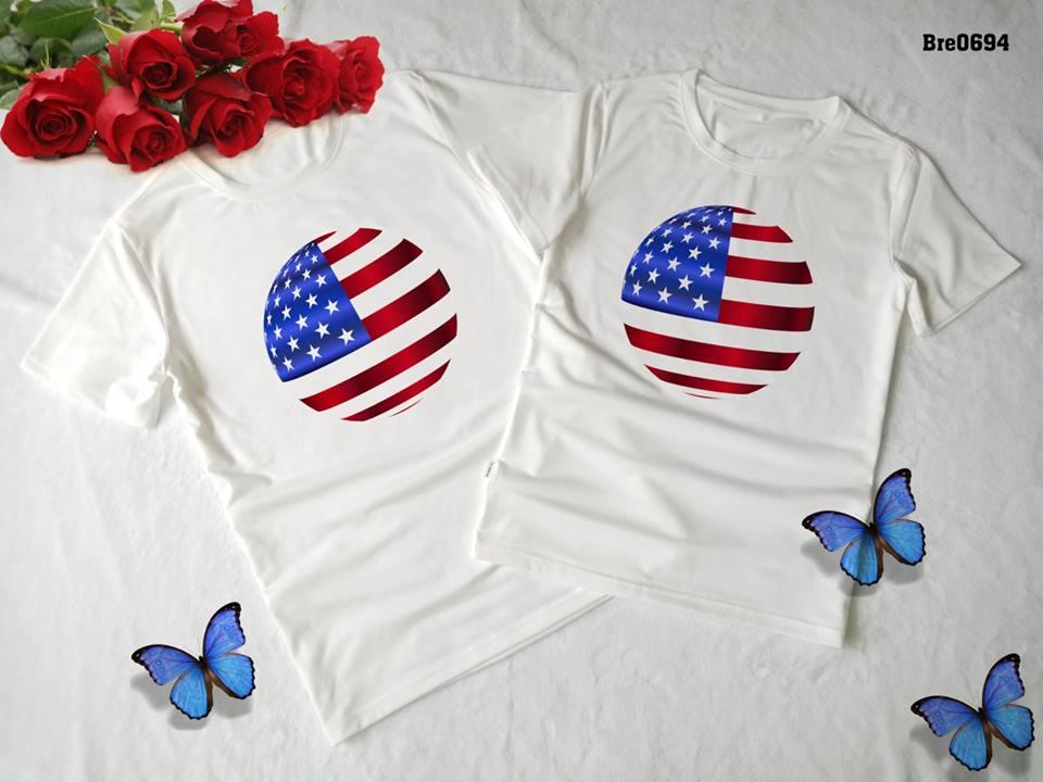 Áo thun in cờ Mỹ COMY05( BRE0694)