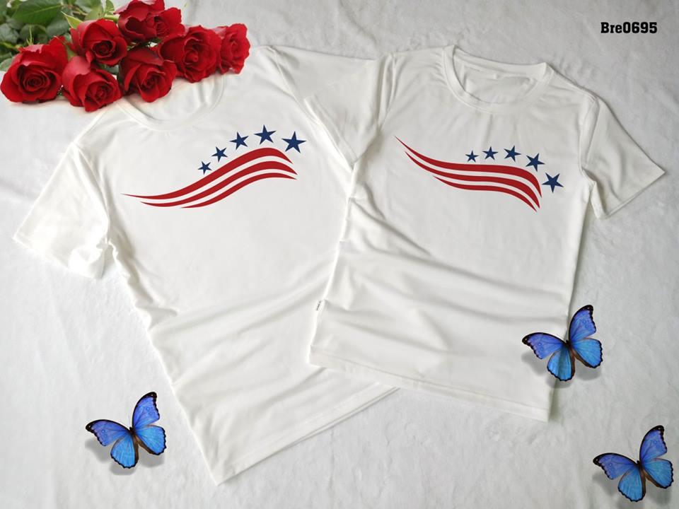 Áo thun in cờ Mỹ COMY06( BRE0695)