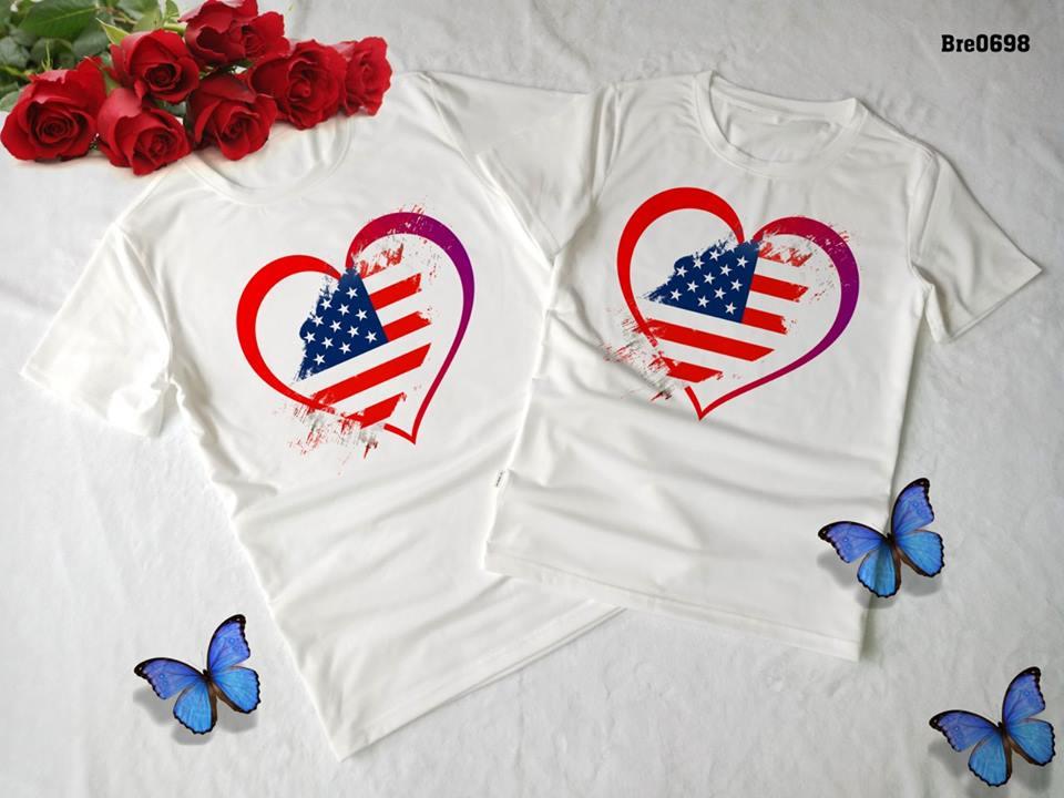 Áo thun in cờ Mỹ COMY09( BRE0698)