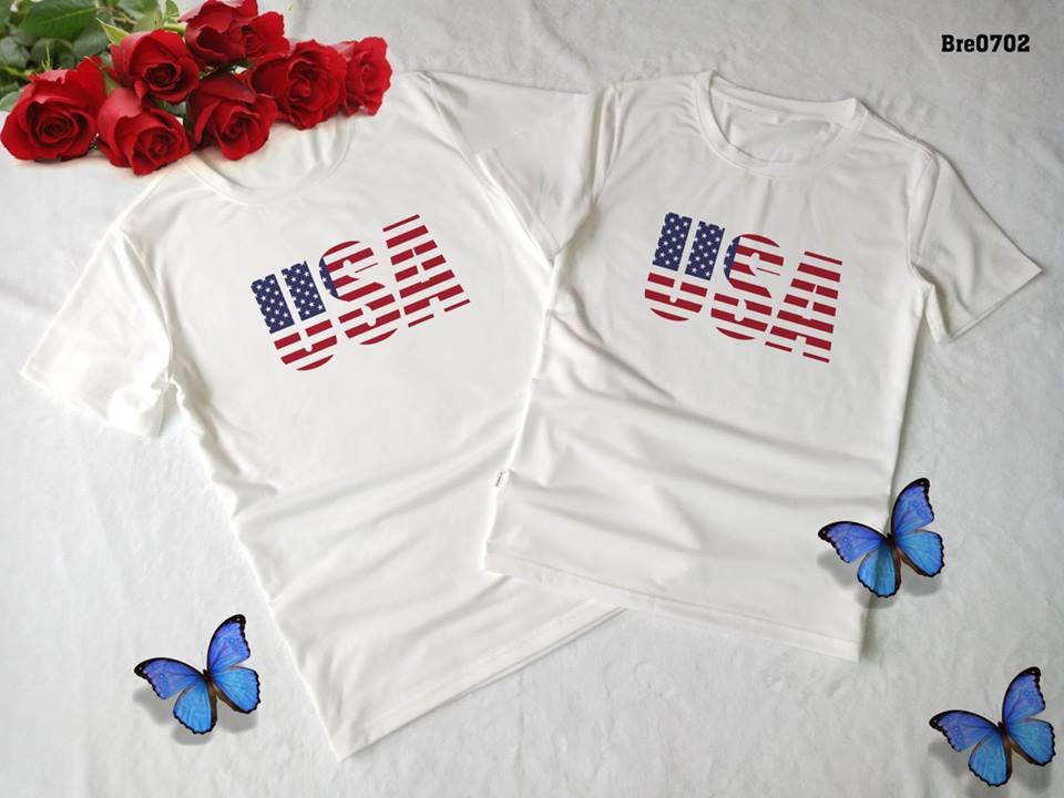 Áo thun in cờ Mỹ COMY13 ( BRE0702)