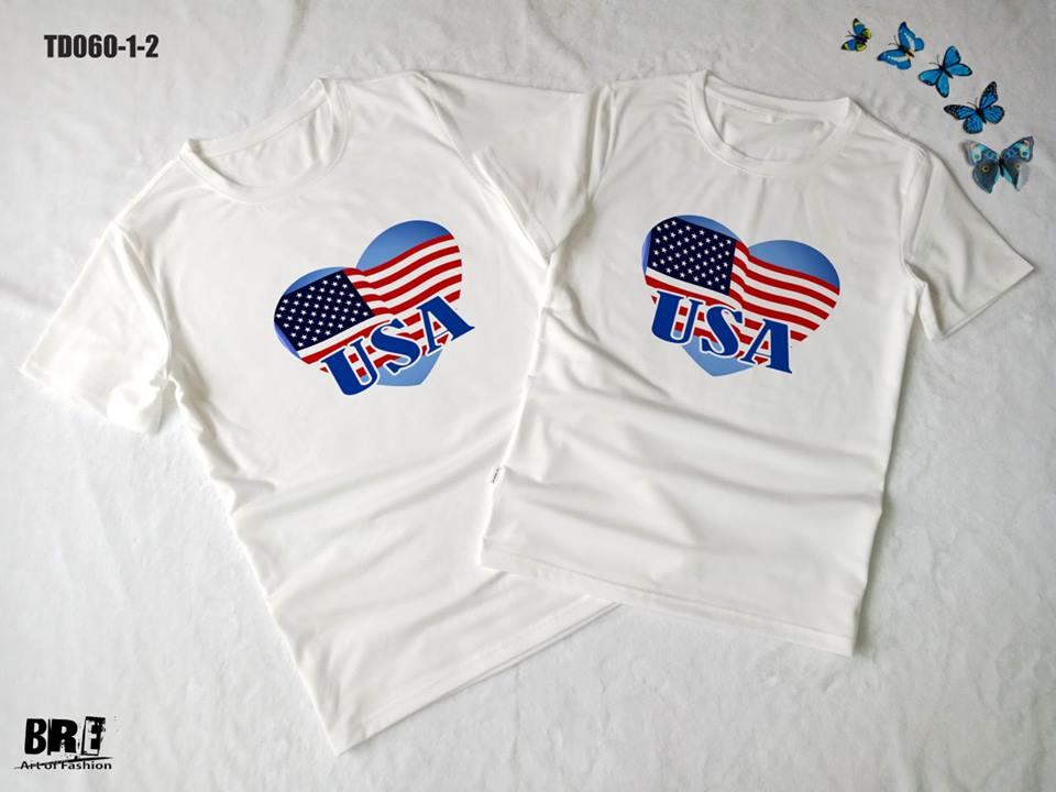 Áo thun in cờ Mỹ COMY16 ( TD060)
