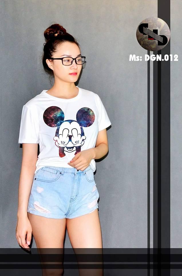 Áo thun nữ in hình chuột MICKEY 02 ( mẫu DGN012)