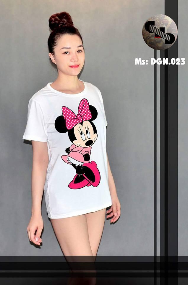 Áo thun nữ in hình chuột MICKEY 11 ( mẫu DGN0123)