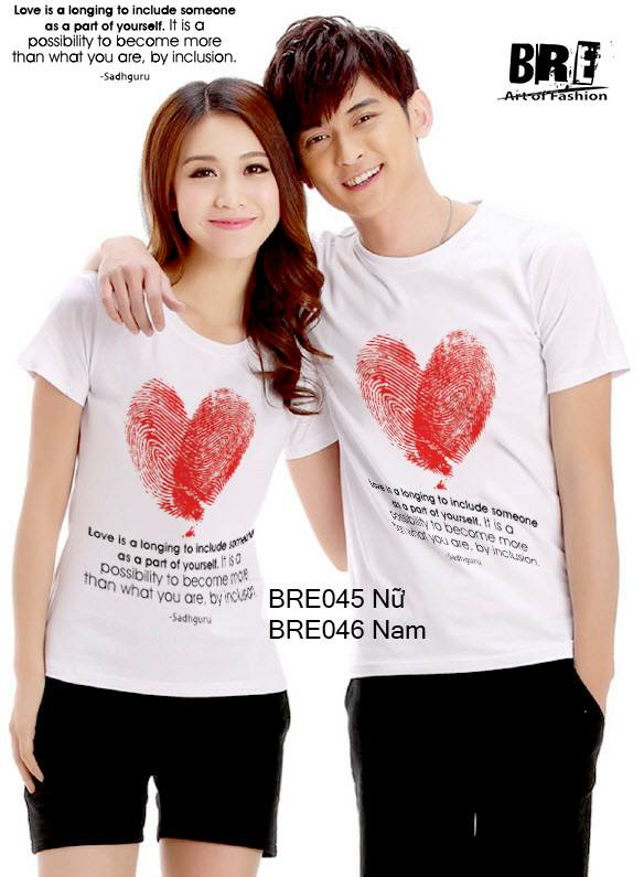 Áo cặp đôi  trái tim vân tay  AD44 ( BRE045 -BRE046)