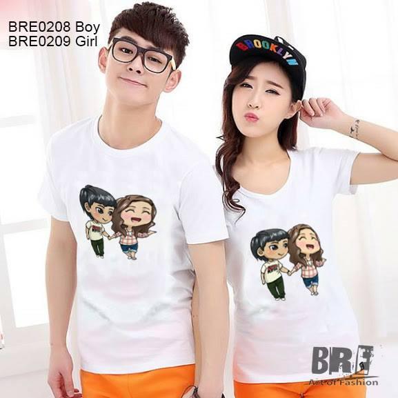 Áo cặp đôi Boy và Girl nắm tay  AD49 ( BRE0208 -BRE0209)