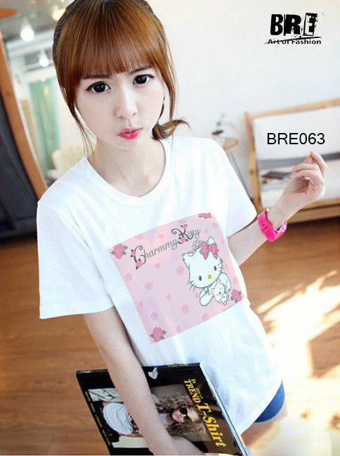 Áo thun nữ  Hello Kitty 03( mau BRE063)