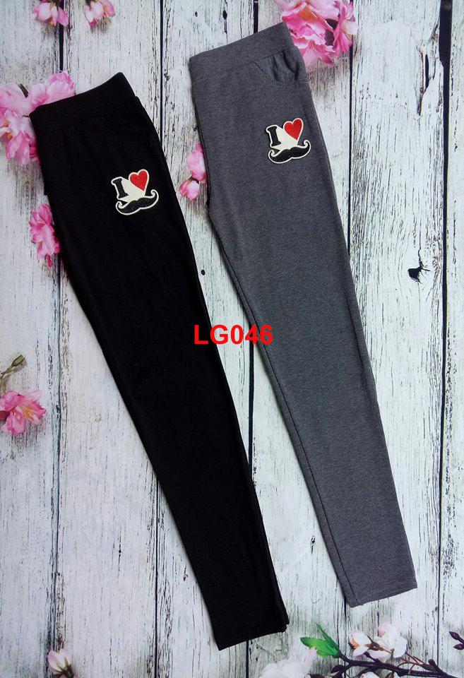 Quần legging I LOVE Mày Râu  LG46