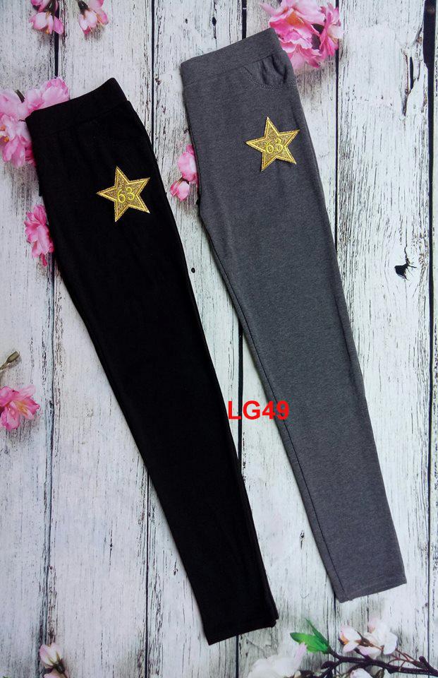Quần legging ngôi sao vàng LG49