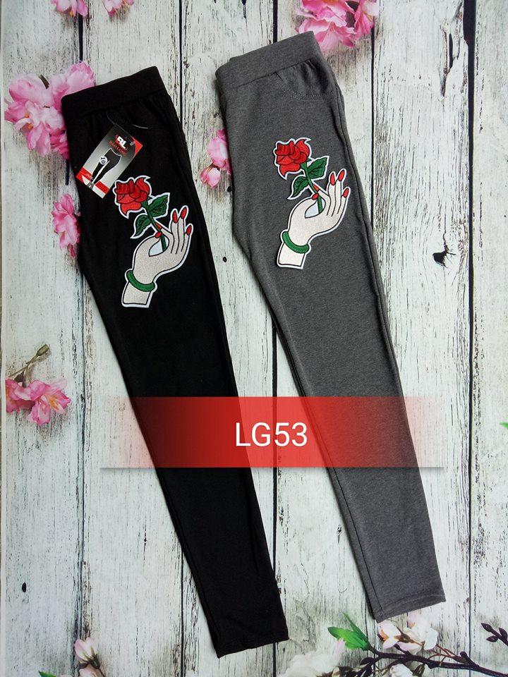 Quần legging bàn tay hoa hồng LG53